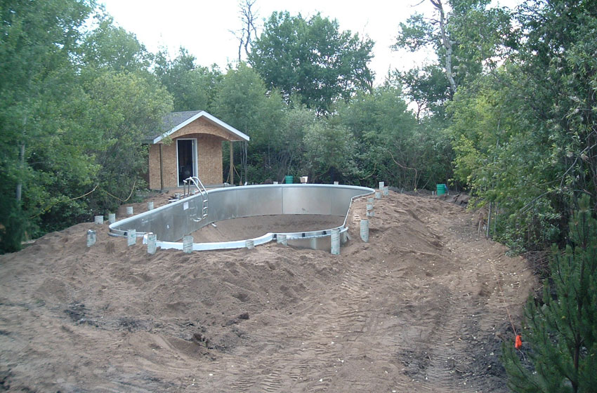 Construction of in-ground pool